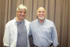HONEST EMOTION: L.A. Times book critic David L. Ulin (left) and memoirist Bernard Cooper after their readings.
