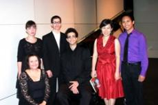 PLAY IT WHERE IT LANDS: The GCC Music Dept. recently held its Applied Music recital. Pictured above from left to right, seated, Sarah Bloxham, standing, Elene Kartvelishvili, Leon Thomasian, Varand Toros Adami, Joy Jungwon and Joenhel Cayanan.