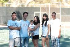 Helping Hands: Khoa Nguyen, left, who started the campus chapter is joined by Alan LeGrady, Gabriel Garcia (the baby) Mane Dovlatyan, Claudia Guadarrama-Garcia, and Gustavo Garcia.