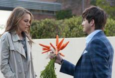 What's Up Doc? Ashton Kutcher offers his carrots to Natalie Portman in No Strings Attached.