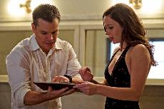 ATTITUDE ADJUSTMENT: Matt Damon and Emily Blunt  play a couple who were destined to never meet in this existential date night comedy.