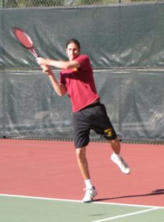 POWERING UP: Vaquero Alex Sarkissian is one of  GCCs top-rated players, taking both his matches 6-0, 6-0.