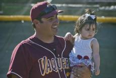 WSC COACH OF THE YEAR: Chris Cicuto, with daughter Samantha, upholds the family's coaching tradition.