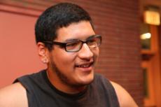 SCHOOL SPIRIT: Kevin-Anthony Nemo Zelaya is the anchor of the cheerleading team.