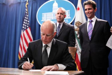 LIVING THE DREAM: Gov. Jerry Brown signs AB 131, the second half of the California Dream Act, into law. This law allows students who qualify for a non-resident tuition exemption under AB 540, to be eligible to participate in state-administered financial aid programs.