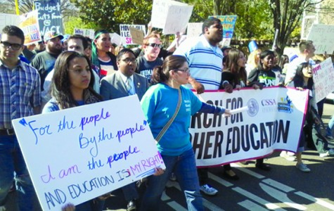 College Students Protest Cuts to Higher Education