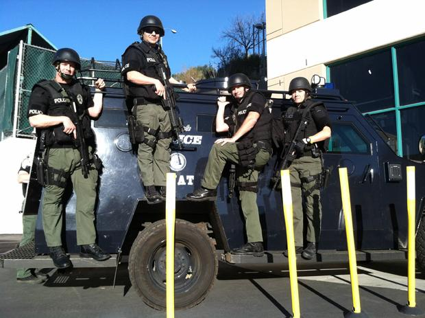 Glendale's SWAT Team Trains on Campus
