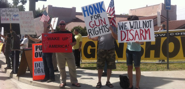 Proposed Gun Show Ban Draws Protesters