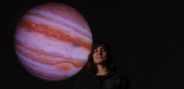 A CELESTIAL SHOW: Jennifer Krestow, astronomy department head and planetarium director, hosts Afternoon with the Stars every Wednesday at 12:30 p.m. in CS 257.