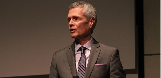 David Viar speaks in the GCC auditorium on April 25.
