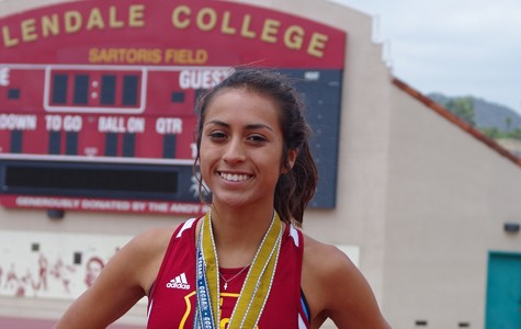 TRIPLE CROWN: Grace Graham-Zamudio became the first woman in California Community College history to win three meter events in the same meet on May 17 to 18.