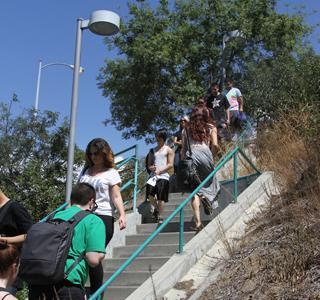 Students Take the Stairs