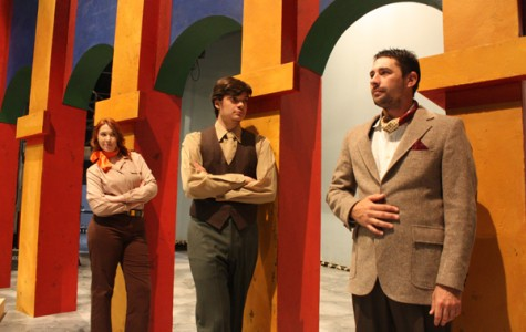 """SHAKESPEARE PRODUCTION: Cast members Angela Thompson, Jared Ogassian and Michael Ashby star in """"Much Ado About Nothing."""""""