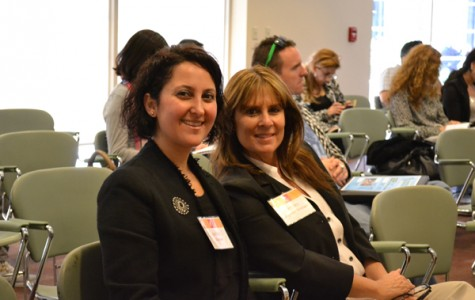 THE WINNER: Student Services Technician Sharis Davoodi and newly elected Andra Hoffman attend a career panel on March 23.