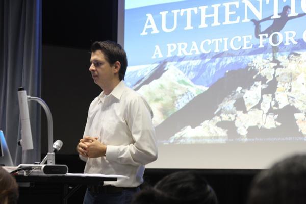 Thomas Voden hosts a discussion as part of GCCs Cultural Diversity series.