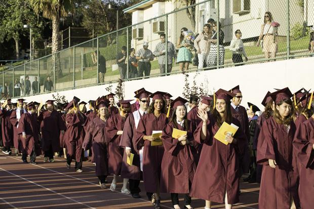 The 2014 graduation procession.