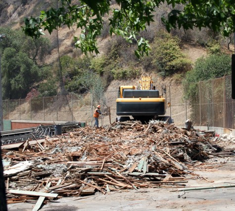 The historic stadium at Stengel Field has been reduced to a pile of rubble.
