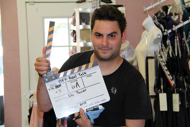 Tomik Ghoukasian on set.
