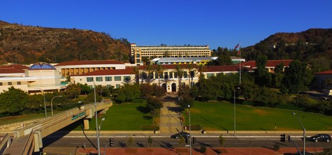 Campus seen from above in this wide shot by Scott Stalnaker and his drone.