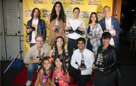 AWARD WINNERS: The winners at the 2nd Annual Glendale Student Film Festival gather on the red carpet with their trophies.