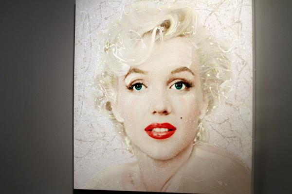 PAINTED ICONS: David Willardson's painting of Marilyn Monroe.