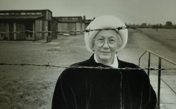 REVISITING THE PAST: Renee Firestone, holocaust survivor, on her first return to Auschwitz-Birkenau in 1996.
