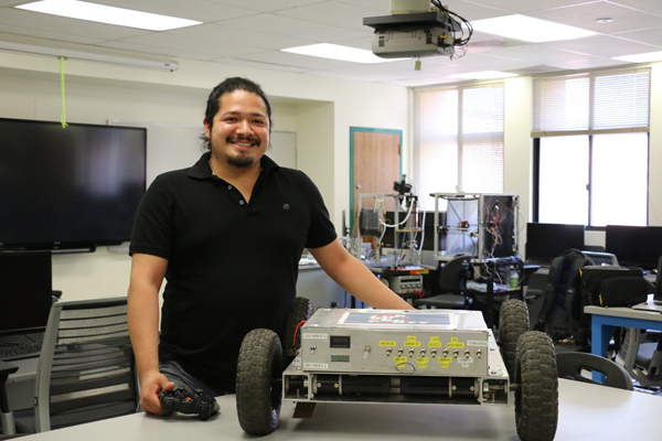 MISSION TO MARS : Enrique Cernas is putting his engineering skills to work at a NASA internship.