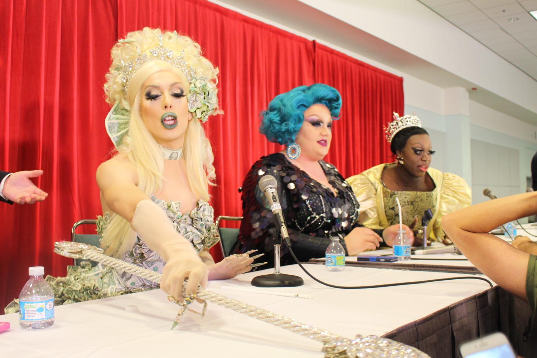 Left to Right: Alaska, Eureka O'Hara and Bob the Drag Queen