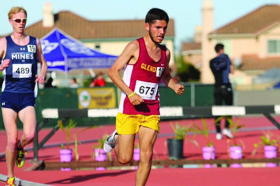 Raymond Lopez crushed the previous school record in the 10,000 meter run at the San Francisco Distance Carnival at San Francisco State University on March 30.