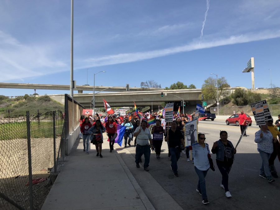The 25th annual Cesar Chavez March is organized by multiple groups, including the LAUSD teacher union, the United Teachers Los Angeles, and others.