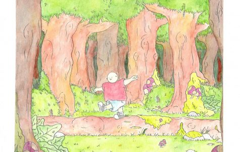 GCC student and El Vaquero illustrator Matthew Spencer celebrates Earth Day in his latest watercolor.