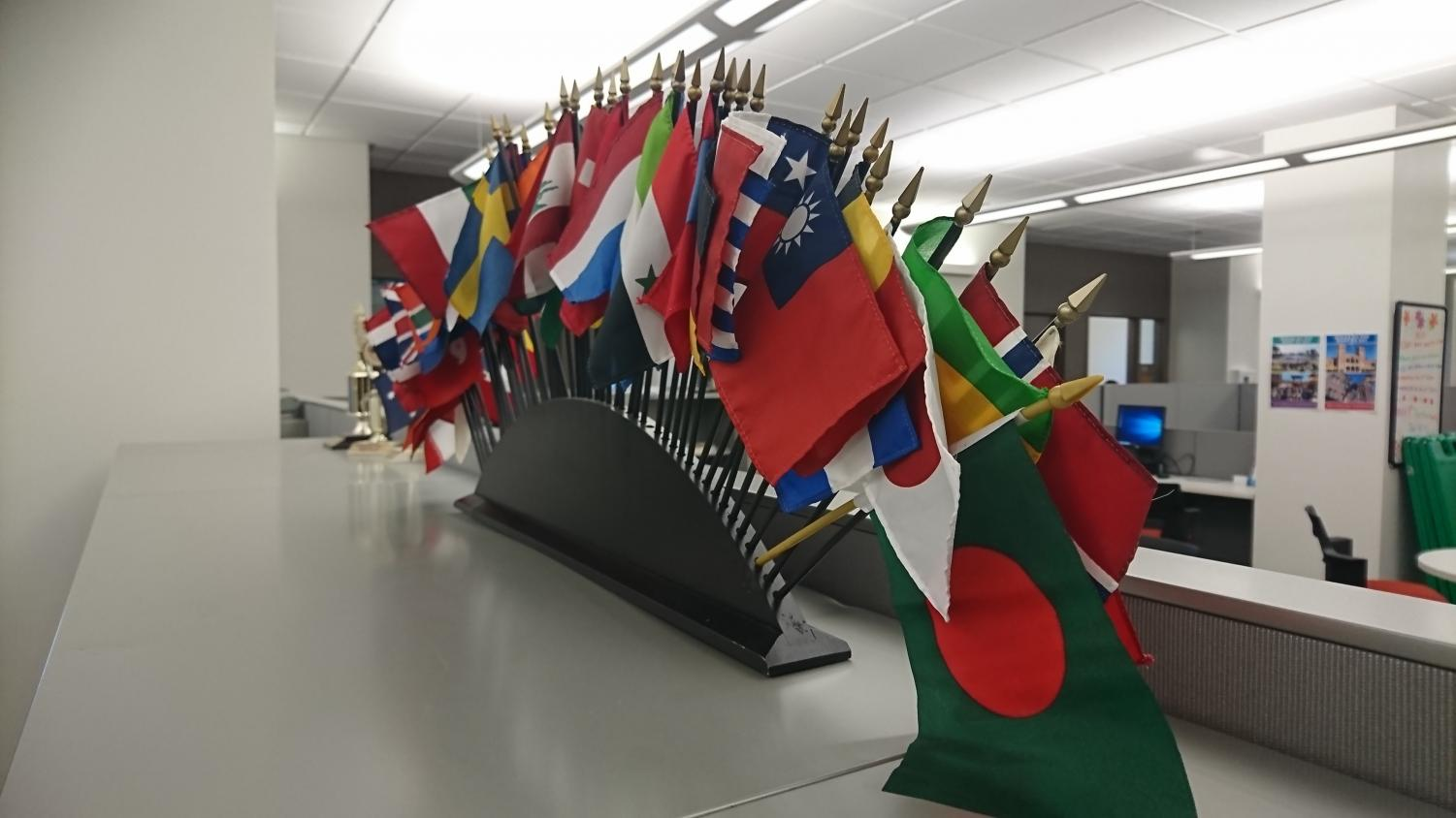 Welcoming students from all over the world.