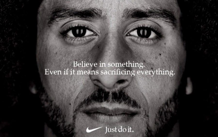 Former SF 49ers quarterback, Colin Kaepernick, becomes the new face of the Nike brand.