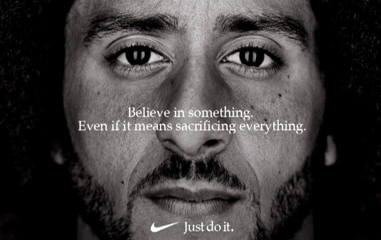 Former SF 49ers quarterback, Colin Kaepernick, becomes the new face of the Nike brand.