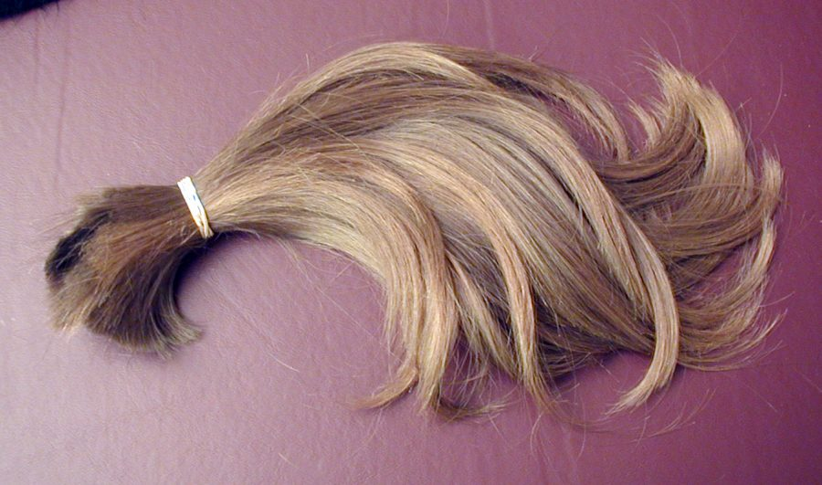 Cancer patients often lose their hair due to chemotherapy. Groups like Locks of Love take hair donations to create wigs for cancer patients.