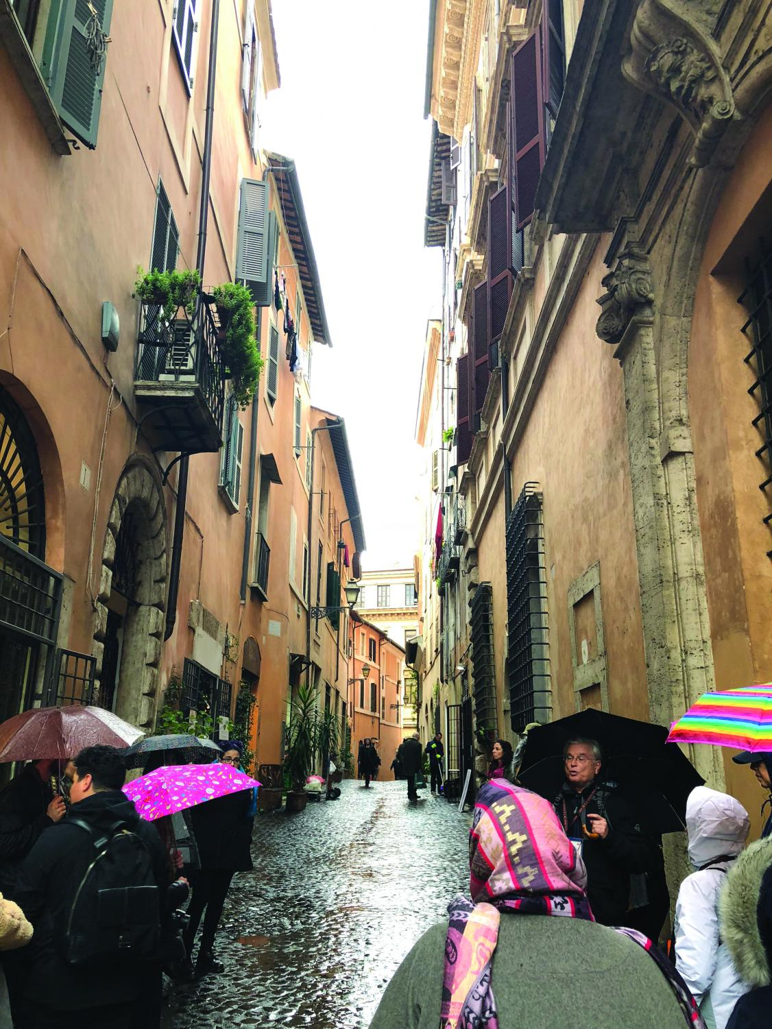 GCC's Study Abroad to Italy in winter 2018 took to the streets of Rome, but takes roads less traveled to immerse in local culture.