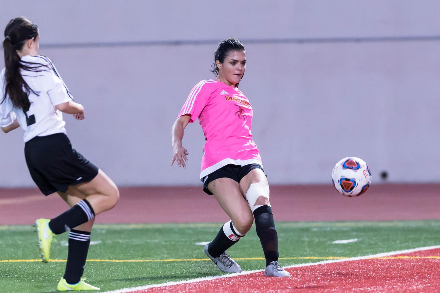 Haley Tsarofski has helped lead the GCC women's soccer team to a 4-1-1 record this season. She has five goals in six games this year while playing a variety of positions for the Lady Vaqs.