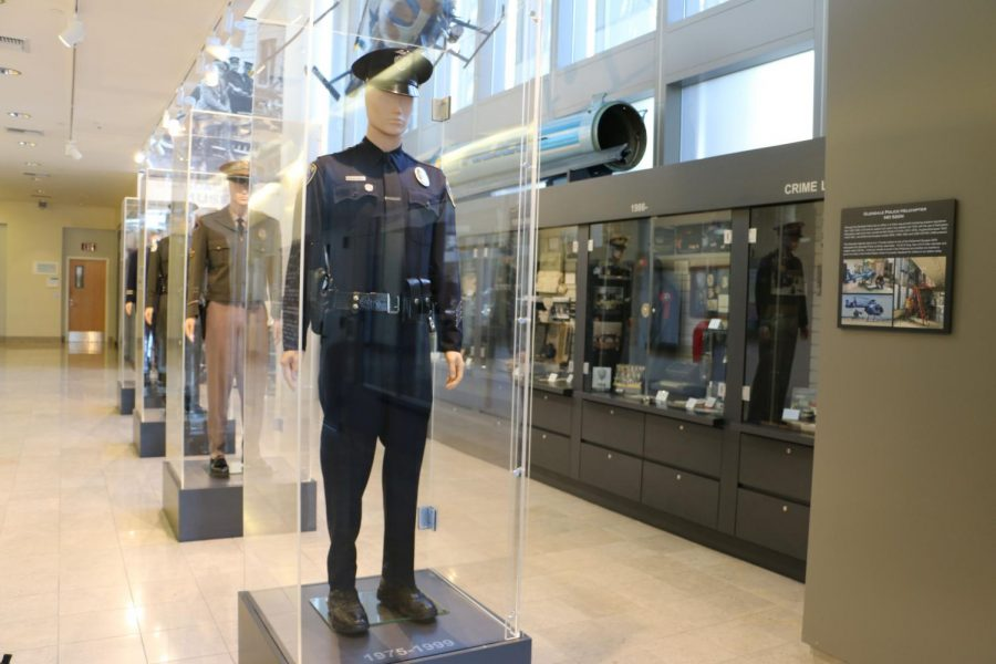 The Glendale Police Museum showcases police uniforms through the last 100 years.