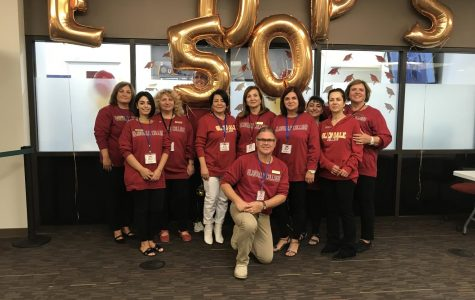 The EOPS staff celebrates 50 years of service.