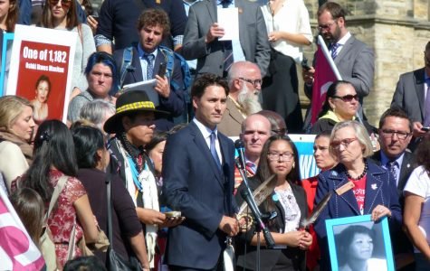 ADVOCATING FOR MISSING WOMEN: Prime Minister of Canada, Justin Trudeau, giving a speech on missing and murdered indigenous women in front of parliament in Ottawa, Oct. 4 2016.