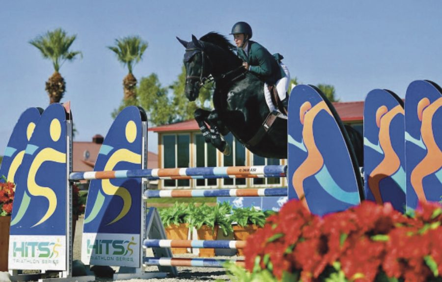 A DIFFERENT WORLD: Cortney Lee Colvig at 2018 Zone Chaimpionships at HITS Coachalle Horse Show.