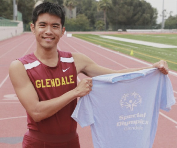 A TROOPER: Paul Kim representing his school and the Sepcial Olympics