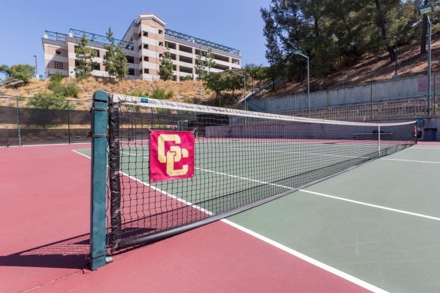 The tennis courts at GCC won't see any matches during the spring semester.