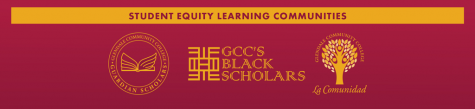 Banner displaying the logos of Student Equity's learning communities.